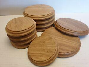 Round circular solid Oak Display Plinths/bases