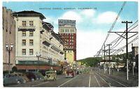 Shattuck Avenue Postcard Berkeley California Near San Francisco & Golden Gate