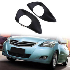 Front Bumper Fog Light Driving Lamp Cover Trim For Toyota Yaris Sedan 2007-2013