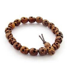 Jujube Wood Skull Beads Tibet Buddhist Prayer Bracelet Mala