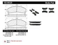 Disc Brake Pad Set-C-TEK Metallic Brake Pads Front Centric 102.06520