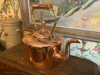 Large 19th Century Victorian English Copper Kettle