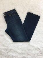 Lands' End Women's Size 12 Denim Jeans Bootcut Leg Mid Rise Stretch Medium Wash