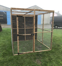 Walk In Aviary Run 1 Boarded Side Mesh Roof Chicken Rabbits Bird Pet Enclosure