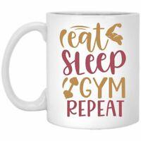 Gym Mug Eat Sleep Gym Repeat Health Enthusiast Coffee Mugs Gift For Mom Dad