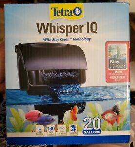 New Tetra Whisper IQ Power Filter w/ Stay Clean Tech for Aquariums Up to 20 Gal