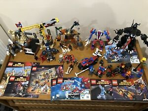 Lego Spider-Man 76037 76036 76128 76113 76014 76058 76115 Bundle with Minifigs
