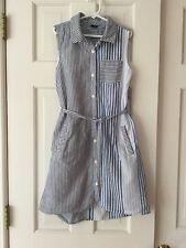 Gap Kids Striped Sleeveless Shirt Dress L/10