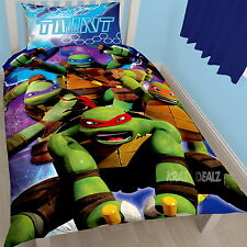 Teenage Mutant Ninja Turtles Dimension Single Panel Duvet Cover Bed Set New Gift