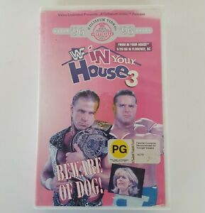 WWF IN YOUR HOUSE 3 VHS 1996 Pal WWE WCW Wrestling