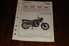 1982 HONDA  CB900F  Set-up Instructions Manual Genuine Honda Dealer OEM