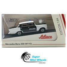 Schuco 1:64 - Mercedes-Benz 200 W110 Polizei (Green/White) - Diecast Model