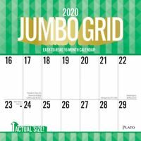 BrownTrout, 2020 Jumbo Grid Large Print Wall Calendar with Full Color Pages