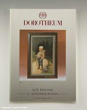 Katalog ALTE REKLAME 1.Sonderauktion Dorotheum 1993