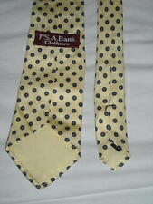 "Jos.A.Bank Clothiers Silk Yellow Print Necktie Measures 58""L X 3.25""W Ships Free"