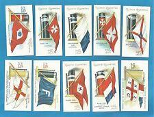 Ogdens cigarette cards - FLAGS & FUNNELS OF LEADING STEAMSHIP LINES - Mint Set