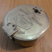 Antique Brass Lid Compass Victor His Master Voice Collectible Gift Item
