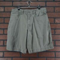 THE NORTH FACE Men's Khaki Chino Walking Shorts Gray Pockets Size 36