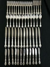 GORHAM MELROSE Sterling Silver Flatware of 52pc Set