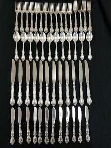 GORHAM MELROSE Sterling Silver Flatware of 52pc Set
