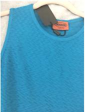 Missoni ZigZag knit Royal Blue Fringe Hem Sleeveless Top s 40 new wtags