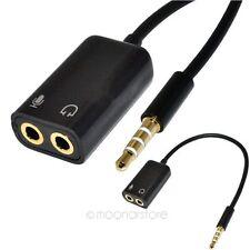 3.5mm Stereo Audio Headphone Earphone Microphone Splitter Adapter For iPhone