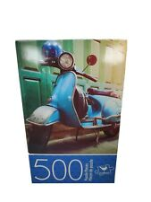 "Cardinal 500 Piece Jigsaw Puzzle ""VINTAGE SCOOTER""-11"" x 14"" Family Fun"