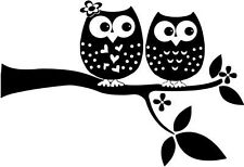 "OWL WILDLIFE Vinyl Decal Sticker-6"" Wide White Color"