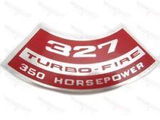 """Corvette NEW Air Cleaner Decal """"327 Turbo-Fire 350 Horsepower"""" 1966-1968"""