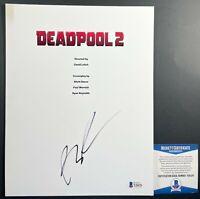 Creator Rob Liefeld Autographed 8.5x11 Deadpool 2 Script Cover With Beckett COA