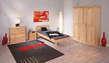 Armoire penderie dressing rangement chambre vintage 3 portes bois PIN massif