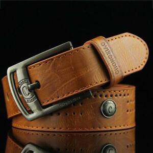 Mens Designer Leather Belt Rachet Waistband Strap Automatic Buckle Fashion LP