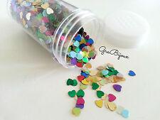 Glitter cuori heart multicolor resina manicure decorazioni varie