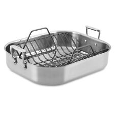 "All-Clad 16"" x 13"" Stainless-Steel Large Roaster with Rack"