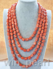 "natural 100"" 13x15mm massive pink coral NECKLACE"