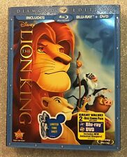 Lion King, The (Blu-ray/DVD, 2011; Diamond Ed.) NEW w/ Slipcover OOP Authentic