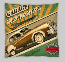 Route 66  45cm Cushion Cover Garage Service Car Repair Old Mottled advert retro