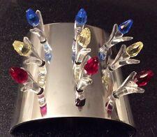 RARE Swarovski Crystal Society 3 anno di rinnovo tulipani in stand (COMPLETA)