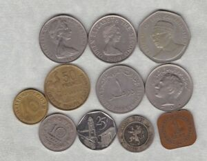 11 MIXED WORLD COINS IN NEAR VERY FINE OR BETTER CONDITION