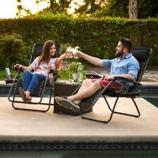 Outdoor Zero Gravity Chair 2 Pack Portable Reclining Folding Camping Backyard