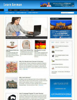 LEARN GERMAN BLOG & WEBSITE WITH AFFILIATE STORE & BANNERS + DOMAIN & HOSTING