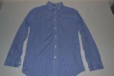 PENGUIN MUNSING WEAR VINTAGE SLIM FIT BLUE PLAID DRESS SHIRT MENS SIZE 14.5 33