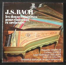Bach 12 concerti clavecins Dreyfus Sgrizzi Tagliavini Le Gaillard 4 LP M, CV EX+