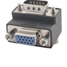 SVGA VGA 15 Pin Male To Female M/F 90° Right Angle Adapter Monitor Connector