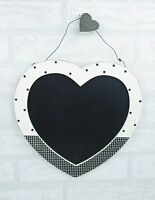 Heart Chalkboard Polka Dot Kitchen Wedding Seating Planner Black & White F0613B