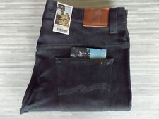 Nudie Thin Finn Dry Dark Grey Slim Tapered Fit Grey Jeans W38 L34 BNWT
