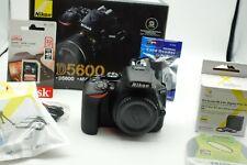 New ListingNikon D5600 Dslr Digital Slr Camera with 18-55mm Lens - Black + accessories