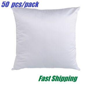 50 PCS Plain White Sublimation Blank Pillow Case Fashion Cushion Cover