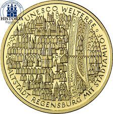 Deutschland 100 Euro Gold 2016 Goldmünze Regensburg mit Stadtamhof Mzz F