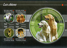 Togo 2015 MNH Dogs 4v M/S Pets Domestic Animals German Shepherd Jack Russell